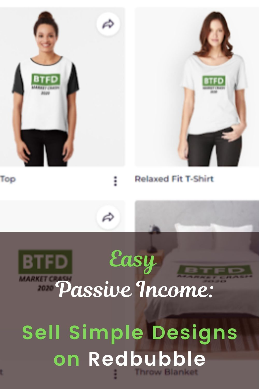 Passive Income: Sell Designs on Redbubble