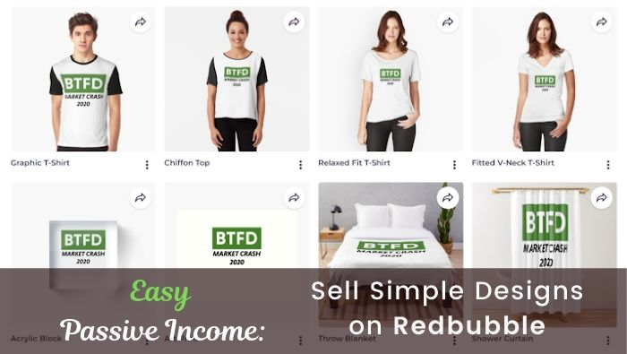 Passive Income- Sell Simple Designs on Redbubble