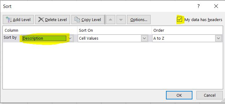 Excel Custom Sort