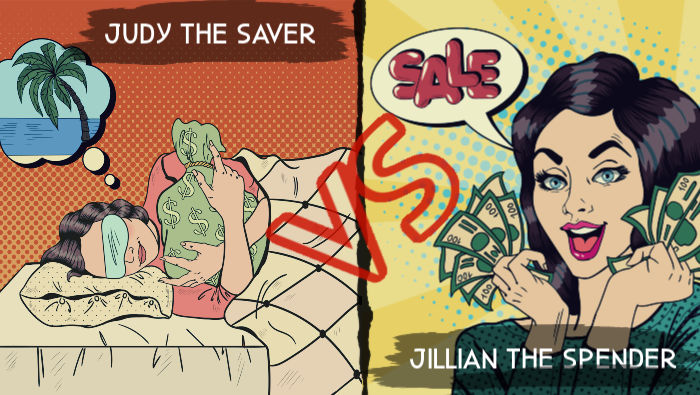 Jillian the Spender vs Judy the Saver Cartoon