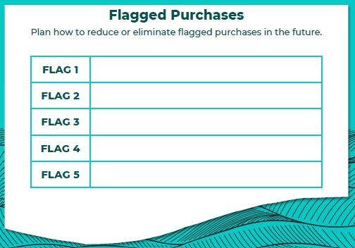 Flagging purchases is a quick way to reduce spending.