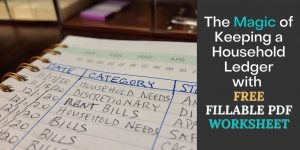 The Magic of Keeping a Household Ledger