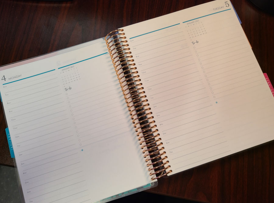 Erin Condren Daily Lifeplanner Duo Daily Planning Pages