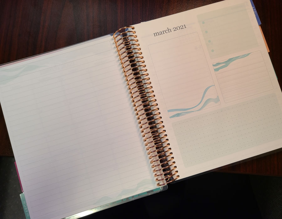 Erin Condren Daily Lifeplanner Duo Monly Planning Page