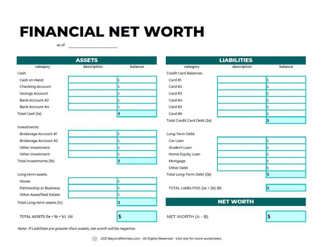 Financial-Net-Worth-Worksheet
