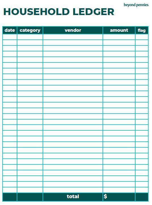 Household Ledger Spending Tracker