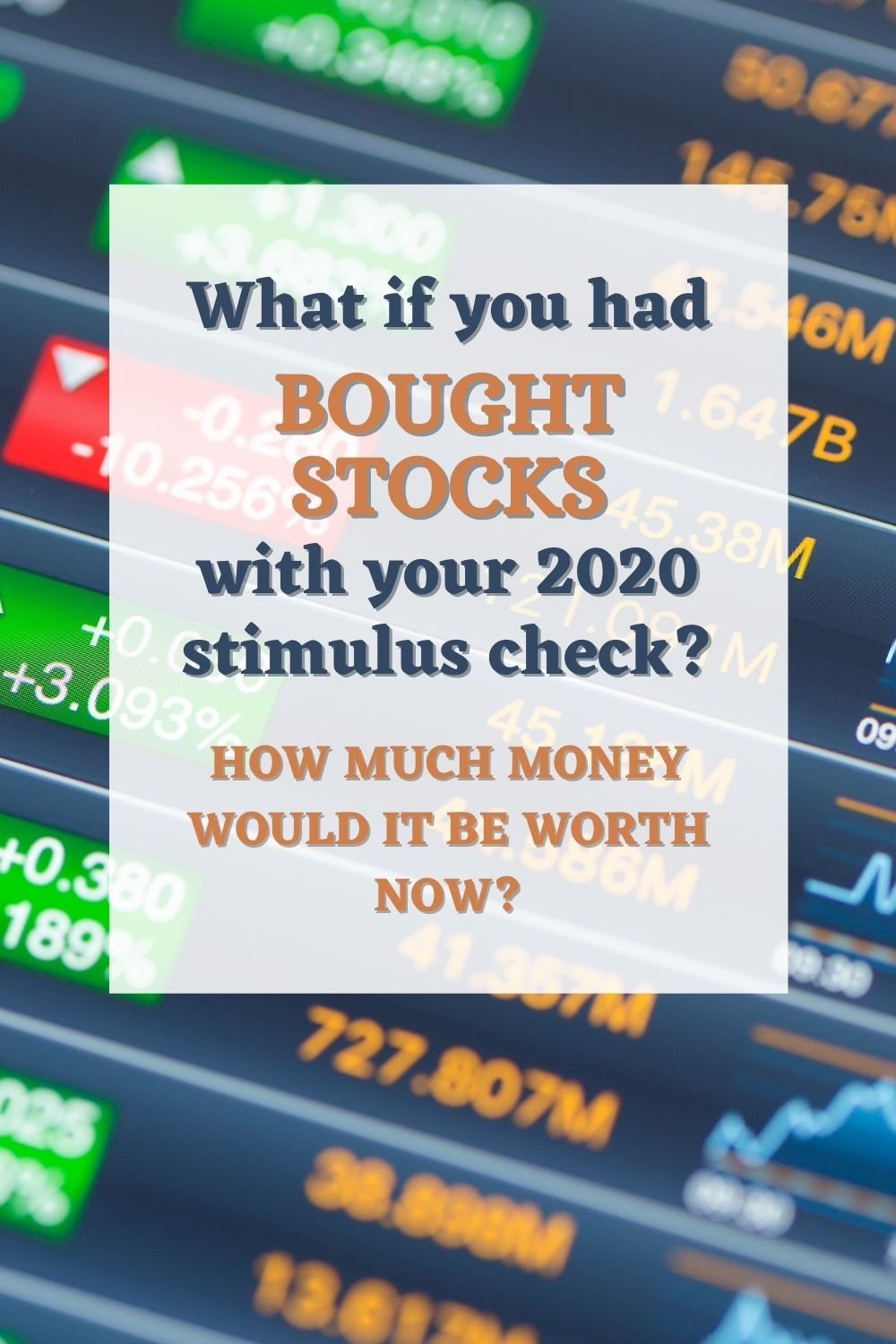 The Value of A Stimulus Check invested in Stocks